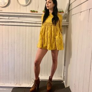 Zara yellow babydoll dress